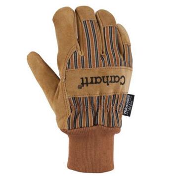 Carhartt Mens Insulated Suede Work Glove w/ Knit Cuff