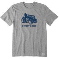 Life is Good Men's Born to Ride Mower Crusher Short-Sleeve T-Shirt