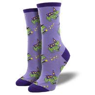 Socksmith Design Women's Freaky Frogs Crew Sock