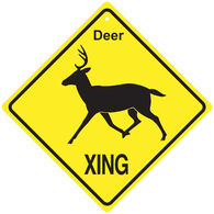 KC Creations Deer XING Sign
