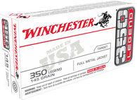 Winchester USA 350 Legend 145 Grain FMJ Rifle Ammo (20)