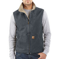 Carhartt Men's Big & Tall Sandstone Mock-Neck Sherpa-Lined Vest