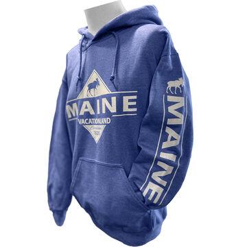 Artforms Womens Vacationland Maine Moose Long-Sleeve Sweatshirt