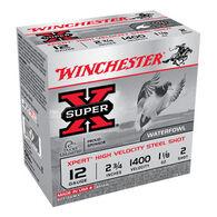 "Winchester Super-X Xpert Hi-Velocity Steel 12 GA 2-3/4"" 1-1/8 oz. #2 Shotshell Ammo (25)"