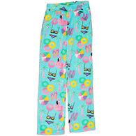 Candy Pink Girls' Beach Fun Fleece Pajama Pant