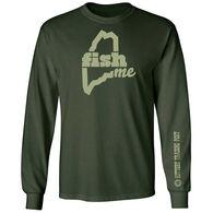 LIVEME Men's Big & Tall FishME Kittery Trading Post Long-Sleeve T-Shirt