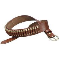 Triple K 100 Heavy Saddle Leather Pistol Cartridge Belt