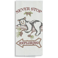 Kay Dee Designs Woodland Bear Embroidered Flour Sack Towel