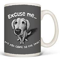 Earth Sun Moon Excuse Me Dog Mug