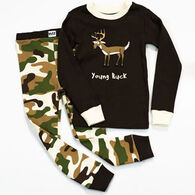 Lazy One Toddler Boys' Young Buck PJ Set