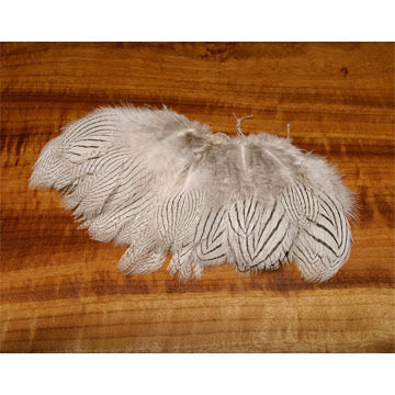 Hareline Strung Silver Pheasant Body Feather Fly Tying Material