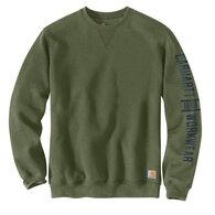 Carhartt Men's Original Fit Midweight Crew Neck Logo Graphic Sweatshirt
