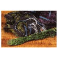 "Hareline 1/8"" Frostip Rabbit Strips Fly Tying Material - 4 Pk."