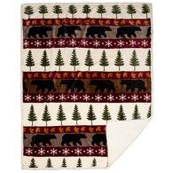 Carstens Inc. Tall Pine Plush Sherpa Fleece Throw Blanket