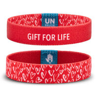Unselfie Women's Gift For Life Hearts Pattern Wrist Band
