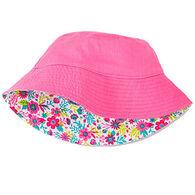 Hatley Girl's Flowers Reversible Sun Hat