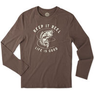 Life is Good Men's Keep It Reel Bass Crusher Long-Sleeve T-Shirt