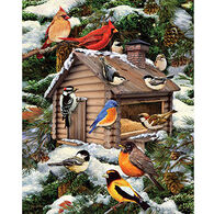 White Mountain Jigsaw Puzzle - Log Cabin Bird House