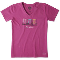 Life is Good Women's Colorful Gathering Crusher Vee Short-Sleeve T-Shirt