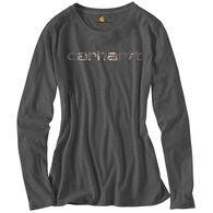 Carhartt Women's Camo Graphic Signature Long-Sleeve T-Shirt