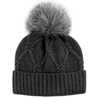 Mitchies Matching Women's Knit Hat With Pom