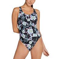 Speedo Women's Printed Thin Strap One-Piece Swimsuit