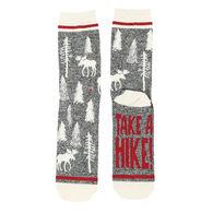 Lazy One Men's Take A Hike Crew Sock