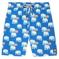 Tom & Teddy Men's Chalky Blue Elephant Boardshort