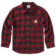 Carhartt Boy's Buffalo Plaid Long-Sleeve Shirt