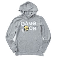 Life is Good Youth Game On Football Crusher Hoodie