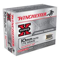 Winchester Super-X 10mm Automatic 175 Grain Silvertip JHP Handgun Ammo (20)
