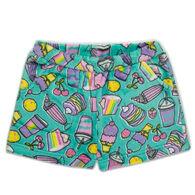 Candy Pink Girl's Rainbow Food Pajama Short