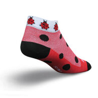 SockGuy Women's Lady Bug Bicycling Sock