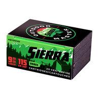 Sierra Bullets Outdoor Master 9mm 115 Grain JHP Handgun Ammo (20)