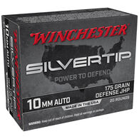 Winchester Silvertip 10mm Auto 175 Grain Defense JHP Handgun Ammo (20)