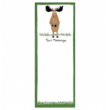 Hatley Little Blue House Text Mooseage Magnetic List Notepad