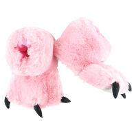 Lazy One Girls' Pink Bear Paw Slipper