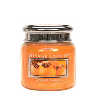 Village Candle Petite Glass Jar Candle - Orange Cinnamon