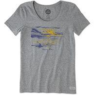 Life is Good Women's Kayak Crusher Scoop Neck Short-Sleeve T-Shirt