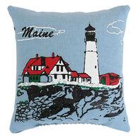 """Maine Balsam Fir 4"""" x 4"""" Portland Head Light Pillow"""
