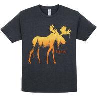 The Duck Co. Men's Pine Drip Moose Short-Sleeve T-Shirt