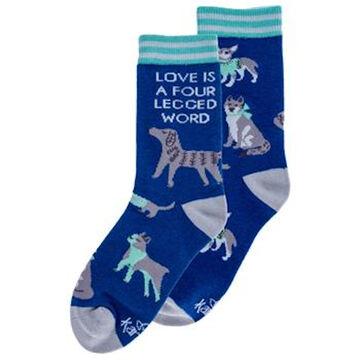 Karma Womens Dog Love Is A Four-Legged Word Ankle Sock