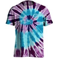 Puppie Love Women's Ocean Berry Spiral Tie Dye Pup Short-Sleeve T-Shirt