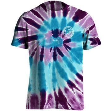 Puppie Love Womens Ocean Berry Spiral Tie Dye Pup Short-Sleeve T-Shirt