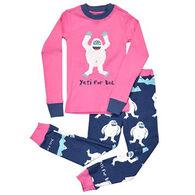 Lazy One Girls' Yeti For Bed Pajama Set