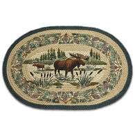 Capitol Earth Oval Moose Wading Rug