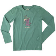 Life is Good Women's Cowgirl Boots Long-Sleeve Crusher T-Shirt