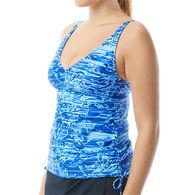 TYR Sport Women's Lucid V-Neck Tankini Swimsuit Top