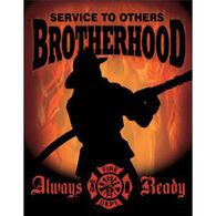 Desperate Enterprises Firemen Brotherhood Tin Sign