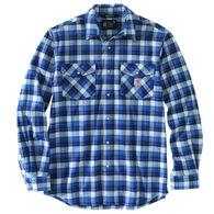 Carhartt Men's Big & Tall Rugged Flex Relaxed Fit Midweight Flannel Snap Front Plaid Long-Sleeve Shirt